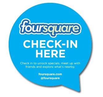 Foursquare Checkin Stickers