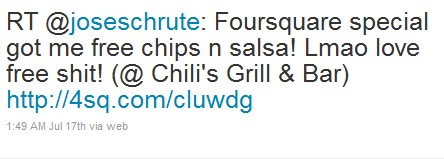 Foursquare Tweets