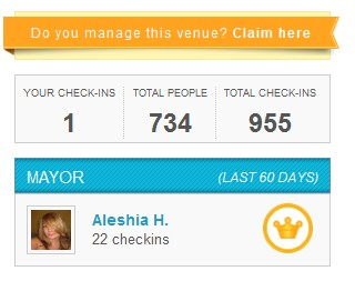 Claim your foursquare listing
