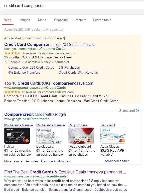 Google SERP hidden ads