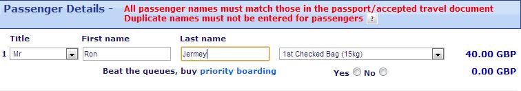 Ryanair 1 bag
